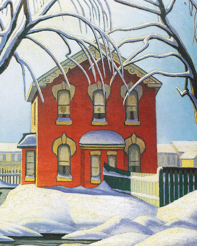 Lawren Harris The Red House Winter 1925